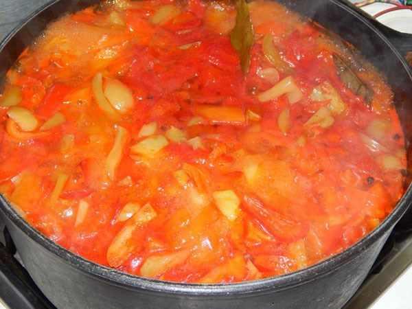 лечо с томатной пастой рецепт с фото