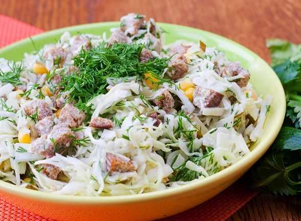 Простые салаты из капусты